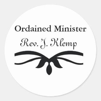 MINISTRO ORDENADO REGALOS PEGATINA REDONDA