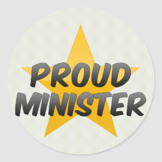 Ministro orgulloso pegatinas redondas