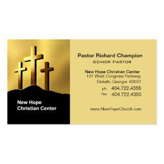 Ministro/pastor cristianos del símbolo de las cruc plantilla de tarjeta de negocio