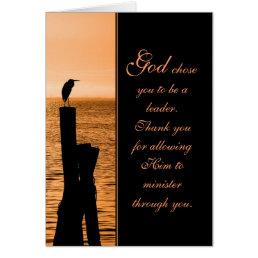 Ministry Appreciation Sunset Card