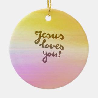 Ministry Jesus loves you Ceramic Ornament
