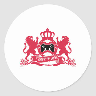 Ministry Of Gaming - Gamer Video Games Geek Classic Round Sticker