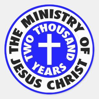 Ministry of Jesus Christ Classic Round Sticker