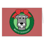 Miniture Schnauzer Christmas Stationery Note Card