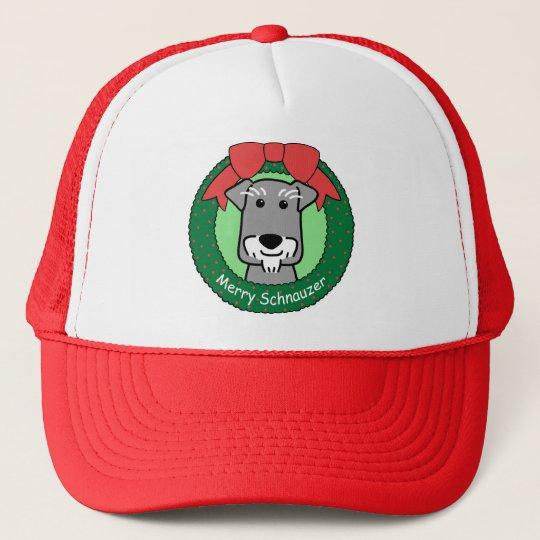 Miniture Schnauzer Christmas Trucker Hat