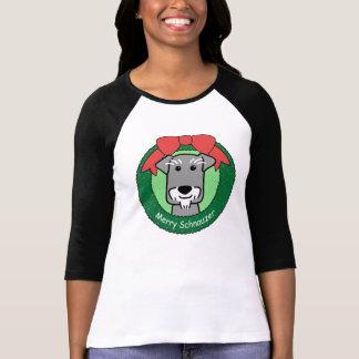 Miniture Schnauzer Christmas T Shirts