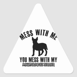 miniture terrier designs triangle sticker