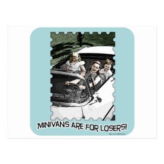 Minivans are 4 Losers! Postcard