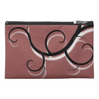 Mink Brown Creeping Vine Travel Accessory Bag