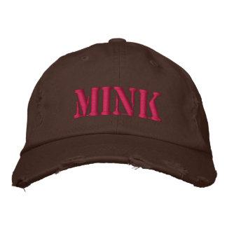 MINK EMBROIDERED BASEBALL CAPS