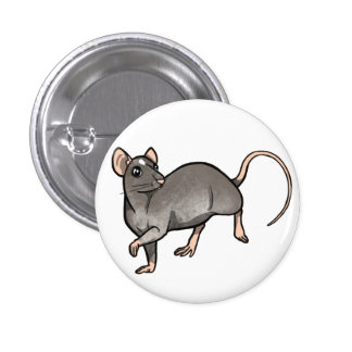 Mink Essex Rat badge Pinback Button