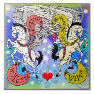 Mink Holidaze Pegasus Tile Upright