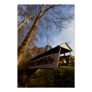 Mink Hollow Covered Bridge, Fairfield county, Ohio Poster