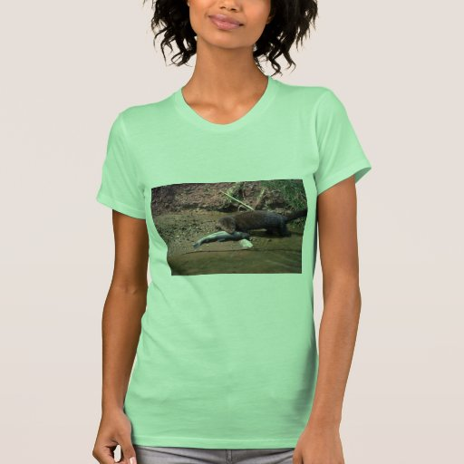 Mink with small fish t-shirt