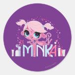 Minka in the Big City 2 Classic Round Sticker