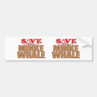 Minke Whale Save Bumper Sticker