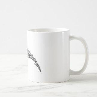 Minke Whale Tribal Graphic Illustration Coffee Mug