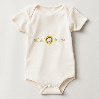 Minki Deluxe Logo Wear Organic Baby Onesie shirt