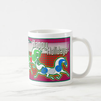 MinkMug Holiday Horses for Christmas Mug