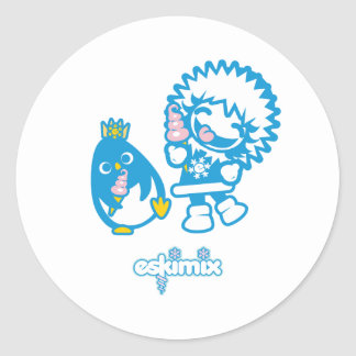 Minky and Rocky Classic Round Sticker