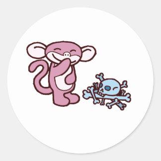 Minky Classic Round Sticker