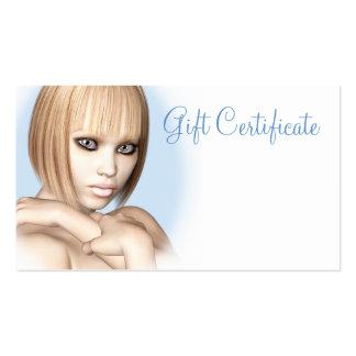 Minna Gift Certificate Business Card Template