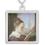 Minna Wasmann, la hermana del artista, 1822 Colgante Cuadrado