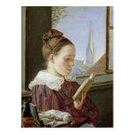 Minna Wasmann, la hermana del artista, 1822 Postal