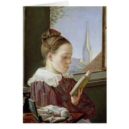 Minna Wasmann, la hermana del artista, 1822 Tarjeta De Felicitación