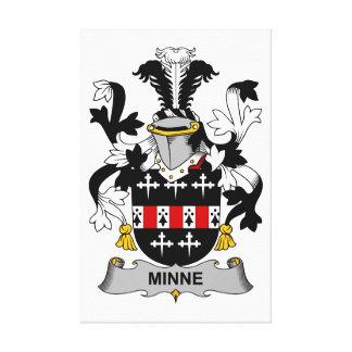 Minne Family Crest Canvas Print
