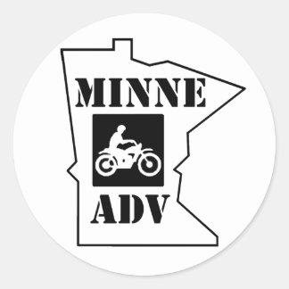 MinneADV Circle Sticker