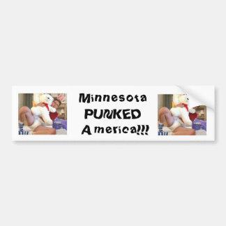Minneaota Punked America Car Bumper Sticker
