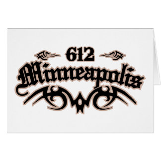 Minneapolis 612 card