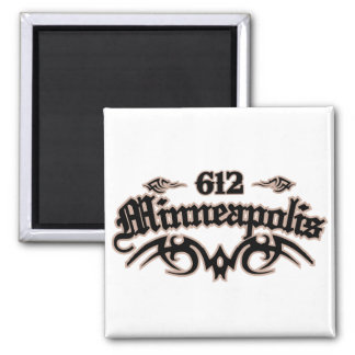 Minneapolis 612 magnet