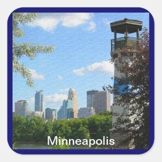 Minneapolis and Boom Island Lighthouse Sticker