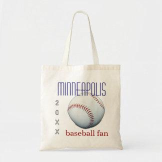 Minneapolis Baseball Fan Tote Bag