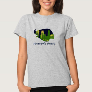 Minneapolis Beauty in Blue, Green, and Yellow T-Shirt