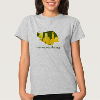Minneapolis Beauty in Green, Yellow, and Orange T-Shirt
