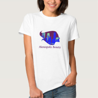 Minneapolis Beauty in Purple, Blue, and Green T-Shirt