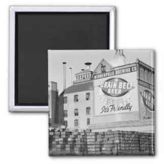 Minneapolis Brewery, 1930s 2 Inch Square Magnet