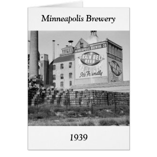 Minneapolis Brewery, 1930s Card