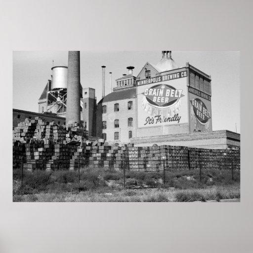 Minneapolis Brewery, 1930s Print