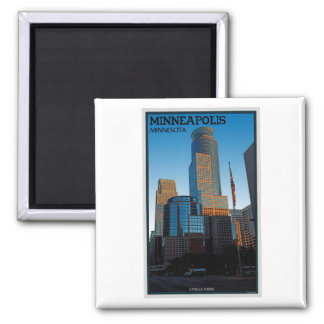 Minneapolis - Capella Tower 2 Inch Square Magnet