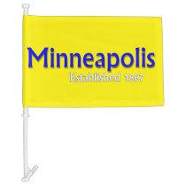Minneapolis Car Flag