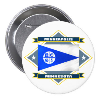 Minneapolis Diamond Pinback Button