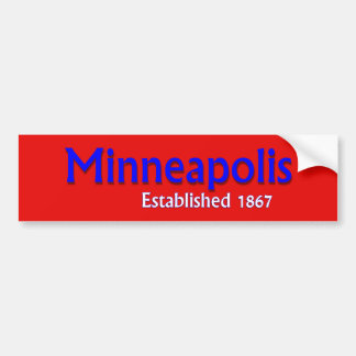 Minneapolis Established Vehicle Bumper Sticker