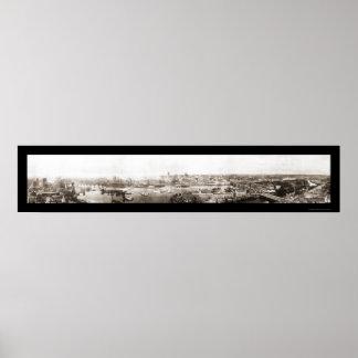 Minneapolis, foto 1915 del manganeso poster