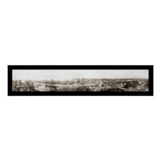 Minneapolis, foto 1915 del manganeso póster