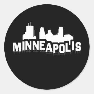 Minneapolis Hollywood Classic Round Sticker