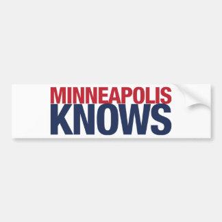 Minneapolis Knows Bumper Sticker